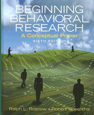 Beginning Behavioral Research A Conceptual Primer