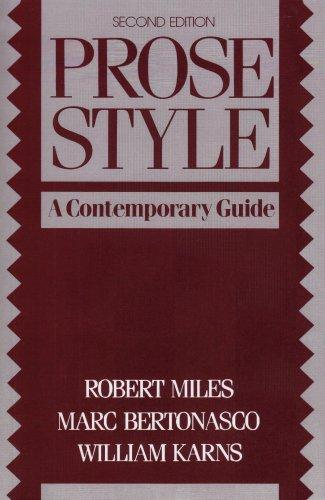 Prose Style: A Contemporary Guide (2nd Edition)
