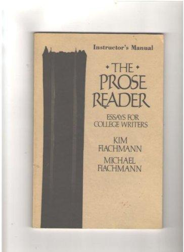 The Prose Reader: Instructor's Manual
