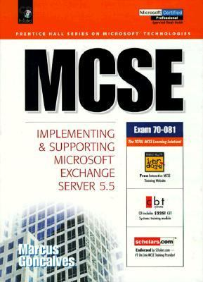 MCSE: Implementing and Supporting Microsoft Exchange Server 5.5 - Vinicius A. Goncalves - Hardcover - BK&CD ROM