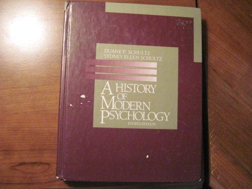 Schultz History of Psychology 4e