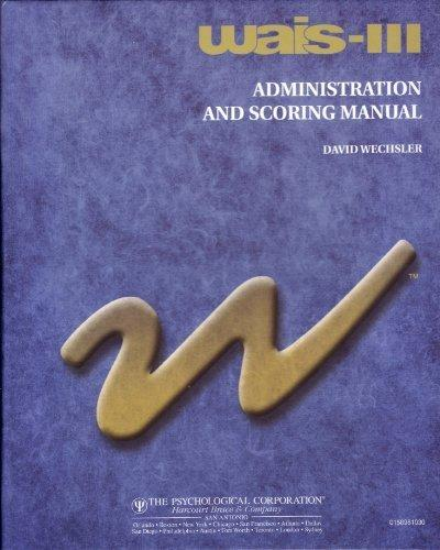 Wais-3 Administration and Scoring Manual