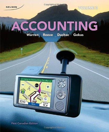 CDN ED Accounting Volume 3 [Paperback] by Warren, Carl S.; Reeve, James M.