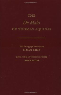 De Malo of Thomas Aquinas With Facing-Page Translation by Richard Regan