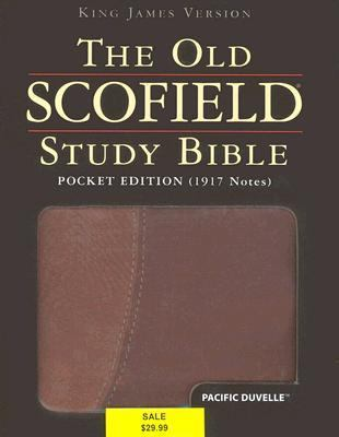Old Scofield Study Bible King James Version, Brown/tan Leather, Pacific Duvelle