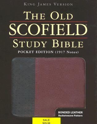 Old Scofield Study Bible King James Version, Black/burgundy, Leather Basketweave