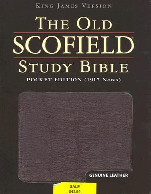 Old Scofield Study Bible King James Version, Burgundy Genuine Leather