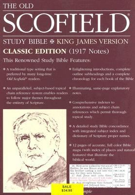 Holy Bible The Scofield Study Bible, King James Version, Navy Bonded Leather, Classic Edition