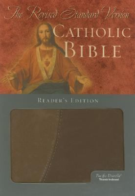 Holy Bible Revised Standard Version Catholic Edition, Brown/tan Pacific Duvelle, Index Reader's Version