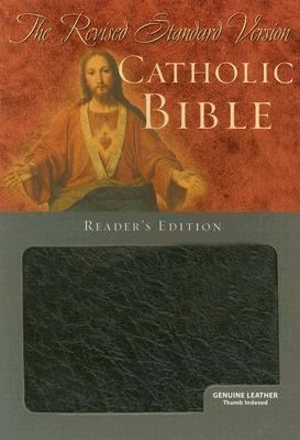 Catholic Bible RSV, Reader's Edition, Genuine Leather, Black