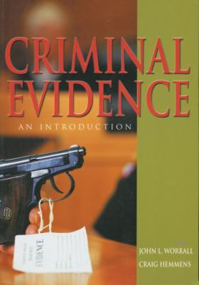 Criminal Evidence An Introduction
