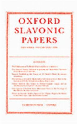Oxford Slavonic Papers 1998