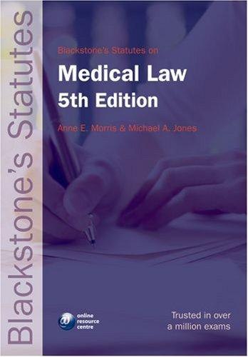 Blackstone's Statutes on Medical Law (Blackstone's Statute Series)