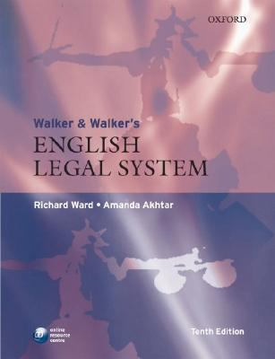 Walker and Walkers English Legal Syst 10th