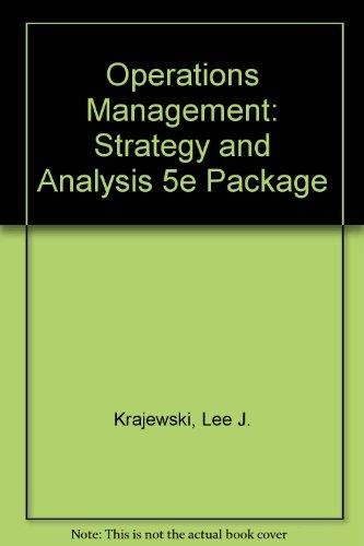 Operations Management : Strategy Analysis (Instructor's Resource Manual)