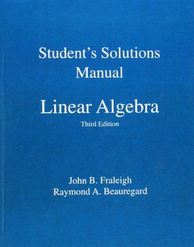 Student Solution Manual for Linear Algebra