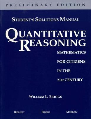 Quantitative Reasoning Mathematics for Citizens in the 21st Century