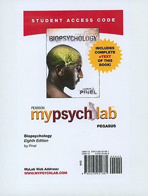 MyPsychLab Pegasus with Pearson eText Access Code Card for Biopsychology (Standalone) (8th Edition)