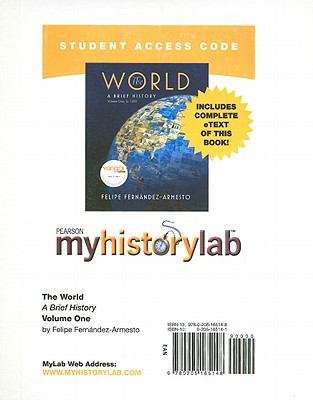 MyHistoryLab with Pearson eText Student Access Code Card for The World: A Brief History Volume 1 (standalone)
