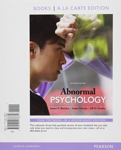 Abnormal Psychology, Books a la Carte Edition (15th Edition)