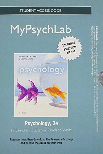 NEW MyPsychLab with Pearson eText -- Standalone Access Card -- for Psychology (3rd Edition)