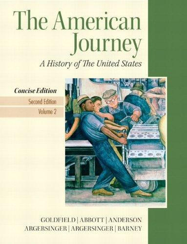 American Journey, The, Concise Edition, Volume 2 Plus NEW MyHistoryLab with eText -- Access Card Package (2nd Edition)