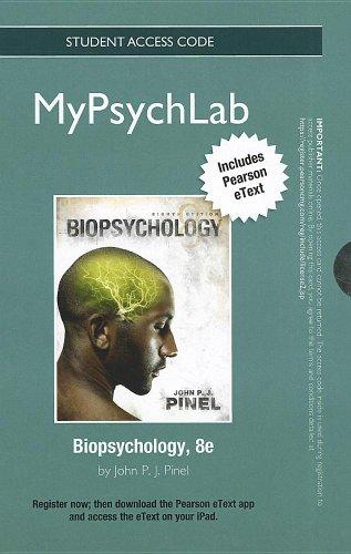 NEW MyPsychLab with Pearson eText -- Standalone Access Card -- for Biopsychology  (8th Edition) (Mypsychlab (Access Codes))