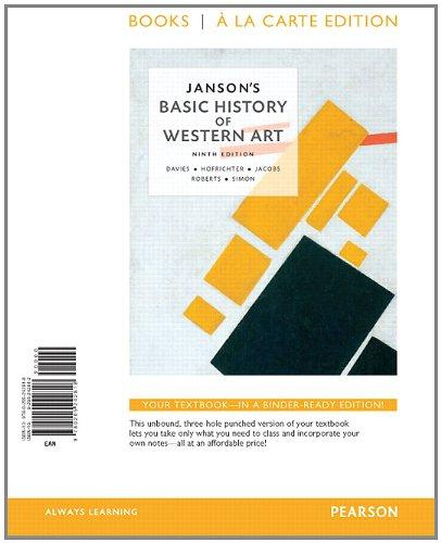 Janson's Basic of History of Western Art, Books a la Carte Edition (9th Edition)