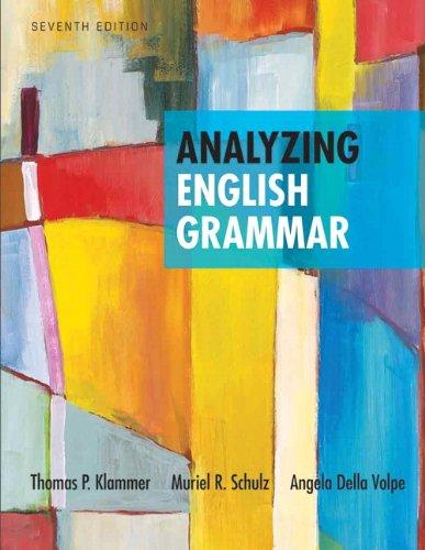 Analyzing English Grammar (7th Edition)