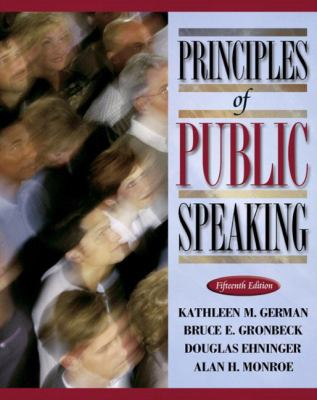 Principles of Public Speaking Kathleen German ... Et Al