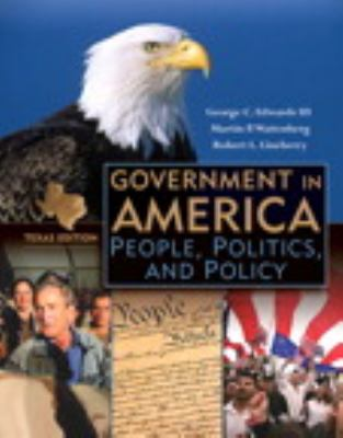 Government in America, Texas Edition, Books a la Carte Plus MyPoliSciLab Blackboard/WebCT