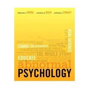 Abnormal Psychology with MyPsychLab with Pearson eText Student Access Code Card
