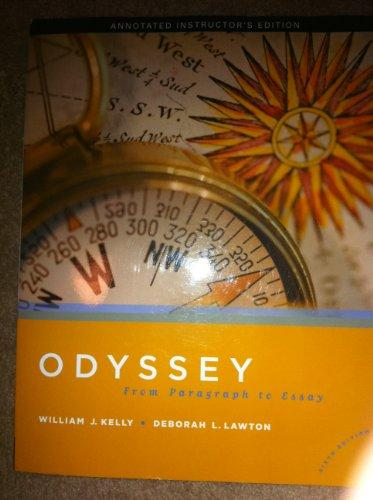 Odyssey From paragraph to Essay Annotated instructor's edition sixth Edition