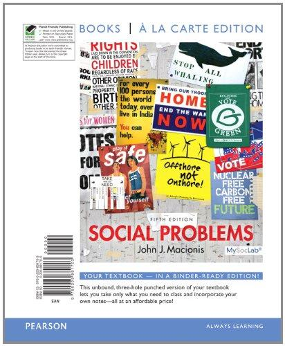 Social Problems, Books a la Carte Edition (5th Edition)