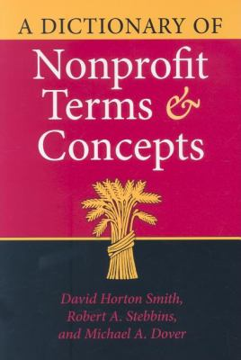 Dictionary of Nonprofit Terms And Concepts