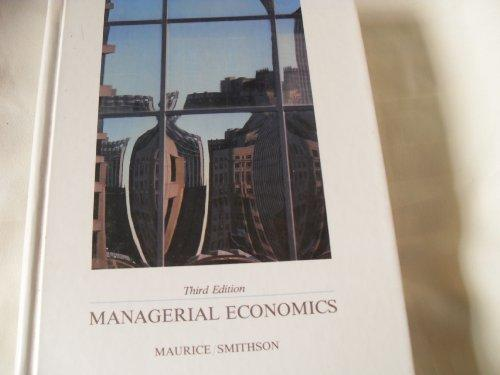 Managerial economics: Applied microeconomics for decision making (Irwin publications in economics)