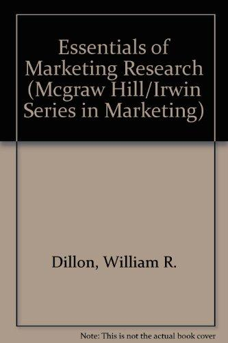 Essentials of Marketing Research (Mcgraw Hill/Irwin Series in Marketing)