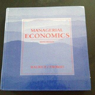 Managerial Economics (The Irwin Series in Economics)