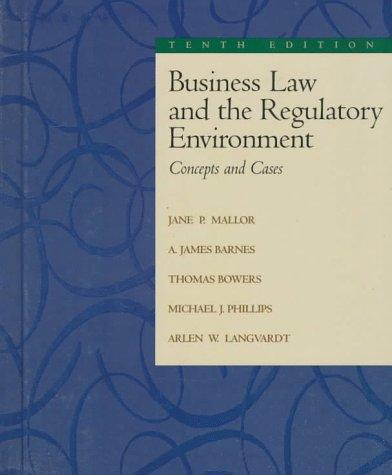 Business Law and The Regulatory Environment