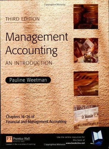 Financial and Management Accounting: An Introduction: Management Accounting