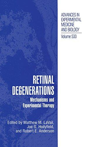 Retinal Degenerations: Mechanisms and Experimental Therapy (Advances in Experimental Medicine and Biology)