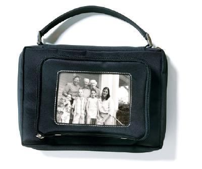 Microfiber Photo Pocket Black with Removable Album Med