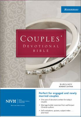 Niv Couple's Devotional Bible For Engaged and Newly Married Couples  Burgundy Leather