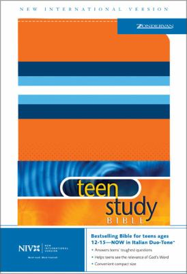 Teen Study Bible New International Version, Teen Study Bible, Orange with Blue Bands