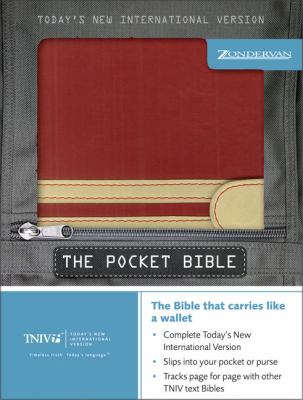 Holy Bible Today's New International Version, Scarlet/Sand, Pocket/Compact