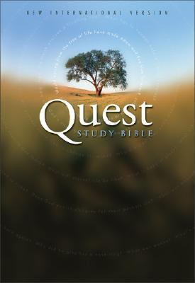 Quest Study Bible New International Version, Green Leather, Black Top