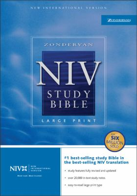 Holy Bible The New International Version Study Bible/Large Print/Burgundy Bonded Leather/Indexed