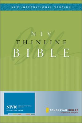 New International Version Thinline Holy Bible Black Bonded