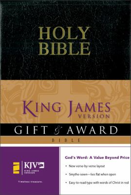 Holy Bible, King James Version Gift & Award Black Leather Look