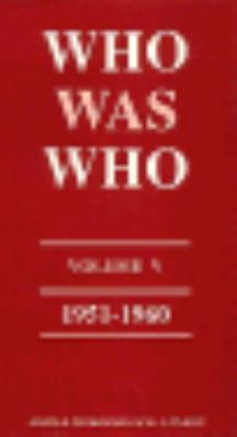 Who Was Who, 1951-1960